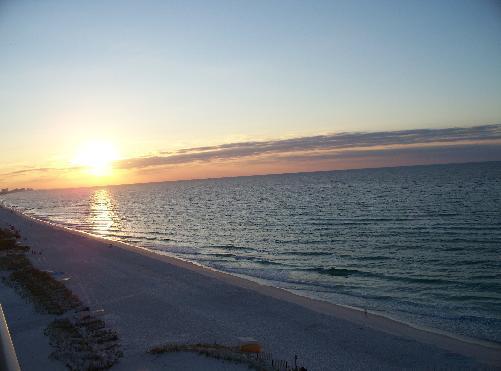 "Sunrise from Balcony - "" 1BR/2 BA, Gorgeous Oceanfront- Pelican Beach - Destin - rentals"
