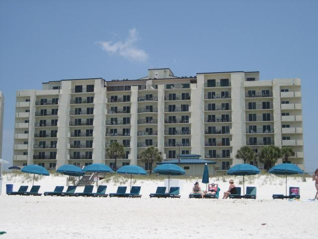 Our condo as viewed from the ocean - Moonspinner PCB - Panama City Beach - rentals