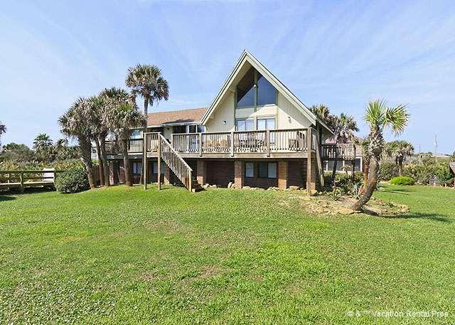 Our 7 bedroom Beach Haven Beach House is set on a cul-de-sac - Beach Haven Beach House, 7 Bedroom, OceanFront, HDTVs, Sleeps 14 - Palm Coast - rentals