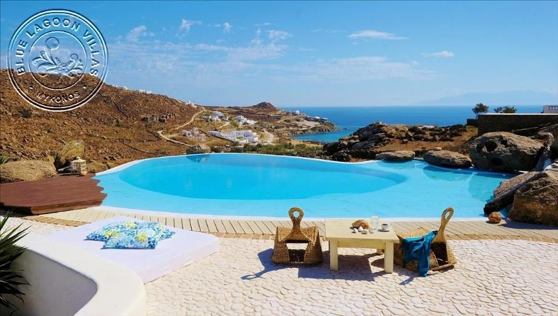 Villa ADAM pool area view - -10% OFF MAY & JUNE. Rent Private Villa in Mykonos - Paradise Beach - rentals