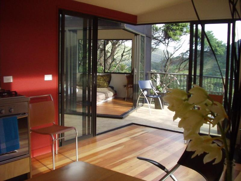 View down valley from Lounge - Karekare Beach Treehouse - Auckland - rentals