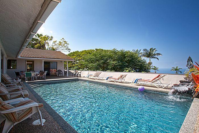 Spectacular Kona Oceanview House w/ Pool Waterfall - Image 1 - Kailua-Kona - rentals