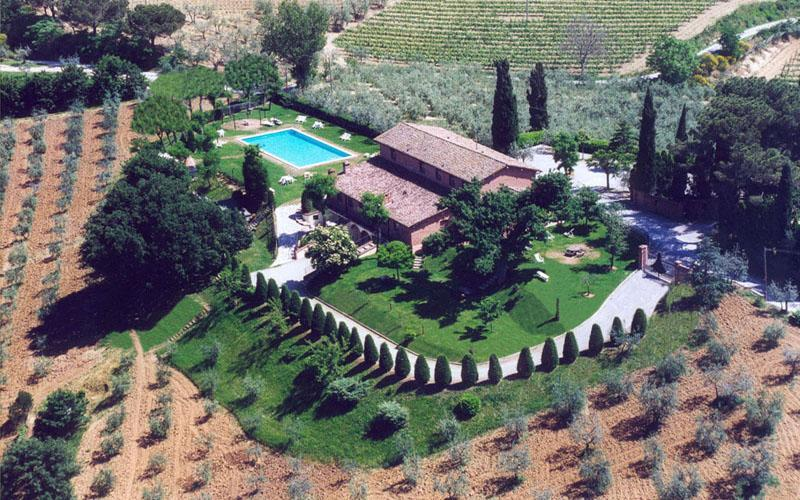 Aerial view - La Casa delle Querce - 1-Bedroom Apartment - Montepulciano - rentals