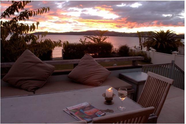 On the verandah - Greenwood Lodge - Taupo - rentals