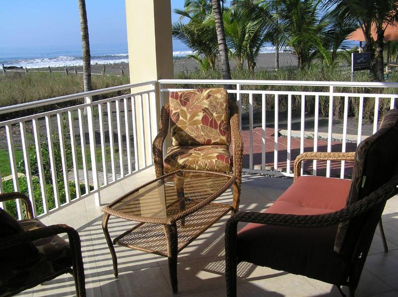 Enjoy watching the waves from your porch - Playa Barqueta Beachfront Condo - Private end unit - David - rentals