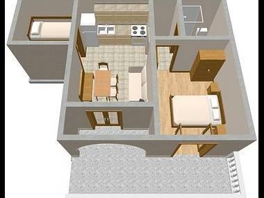 A1(4+2): floor plan - 2112 A1(4+2) - Novi Vinodolski - Novi Vinodolski - rentals