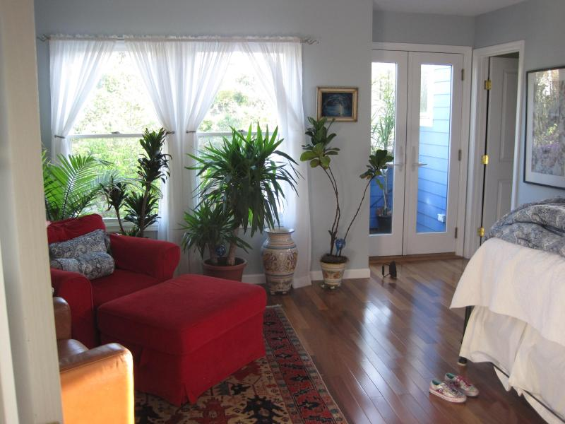 master BR - great light, spacious, 2 reading chairs - PERFECT S.F. Vacation Rental 3-BR, sleeps 5--6 - San Francisco - rentals
