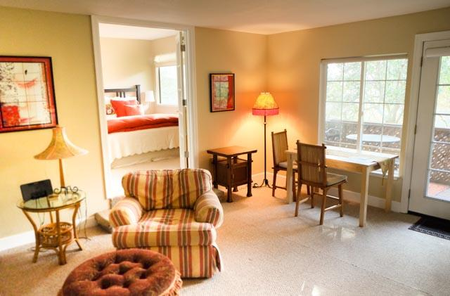 Spacious, bright living room Great for relaxing or working. - A Convenient, Private, Elegant and Cozy Oasis - Mill Valley - rentals