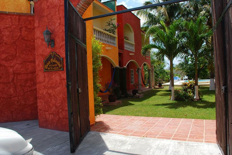 As you enter the large privacy gate you enter into an oasis in the heart of Cozumel. - Casa Colonial; Celebrate Mexican Colonial Style! - Cozumel - rentals