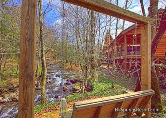 Cabin on the Creek!  4 Bedroom Luxury Cabin with outdoor fireplace! - Image 1 - Gatlinburg - rentals