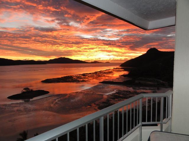 Sunrise - looking East from your balcony - Hamilton Island Beachfront - including golf buggy - Hamilton Island - rentals