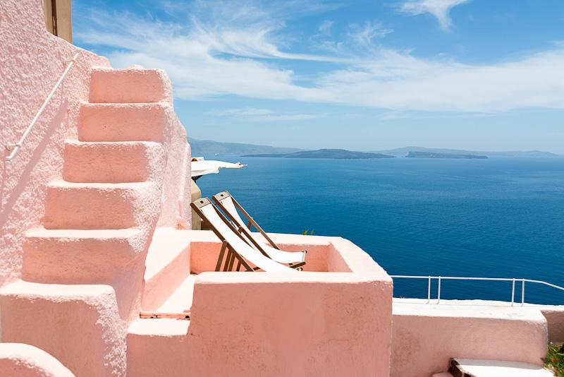 PINK & BLUE villas, private HOT TUB, Caldera View! - Image 1 - Oia - rentals
