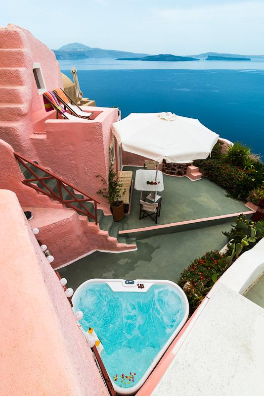 PINK Cave House, Caldera View - PINK & BLUE Cave Houses HOT TUB Panor Caldera View - Oia - rentals