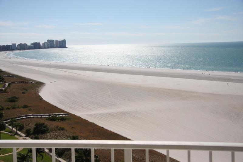View of beach from balcony - Thanksgiving AVAILABLE ON THE BEACH 2bed/2bath wif - Marco Island - rentals
