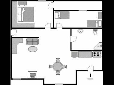 Green(4): floor plan - 3365 Green(4) - Medulin - Medulin - rentals