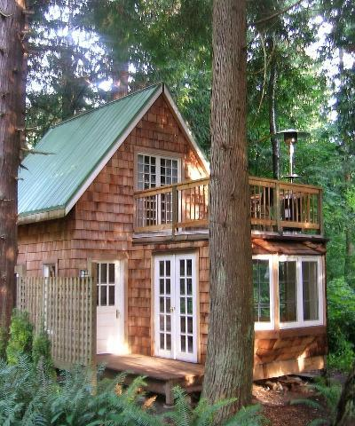 The cottage is nestled in a grove of majestic western red cedars - The Original Gingerbread Cottage Getaway - Point Roberts - rentals