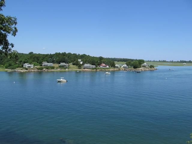 Deck view looking easterly - Vintage Home directly on the Annisquam River - Gloucester - rentals