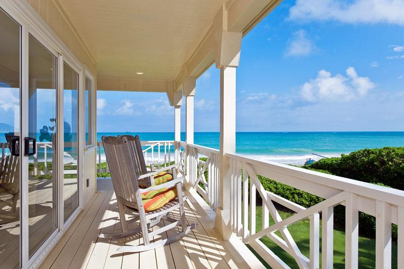 Relaxing Lanai(Porch) Overlooks the Beach, ocean, Offshore Islands. & wraps around 3 sides of House. - BEST BEACH---BEST VIEWS---BEST LOCATION--BEST HOME - Kailua - rentals