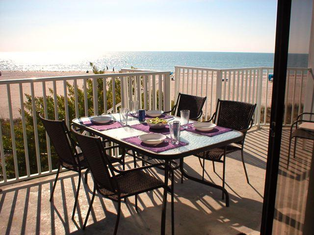Lunch on balcony with a spectacular view of the Gulf of Mexico - Only February date available is week of  2-25! Easter week available! - Indian Shores - rentals