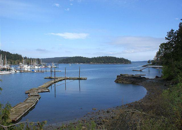 View of Shipyard Cove and Brown Island from property. - Best Place Cottage - Friday Harbor - rentals