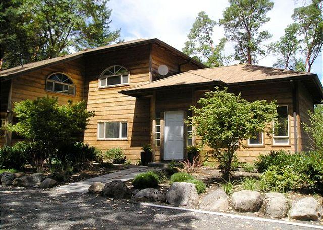 The front of Woodhaven - as seen from the driveway. - 3 Bedroom home with bonus room! - (Woodhaven) - Friday Harbor - rentals