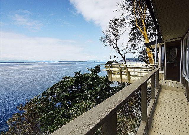 Unparalleled views of the Strait from the deck of the Whale Watch Hideaway. - Whale Watch Hideaway - Friday Harbor - rentals