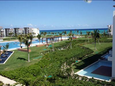 View from the Terrace - Ocean View Golf Course Luxury Condo - Buena Vida - Playa del Carmen - rentals