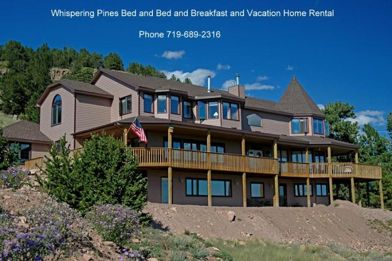Front of Whispering Pines in the Summer - Luxury 8 bedroom Vacation Home & gold mining town - Cripple Creek - rentals