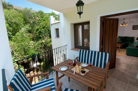 The terrace overlooks the river and waterfall - 2 bedroom apartment at Molino la Ratonera - Zagra - rentals