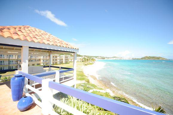 BELL'MARE...endless visions of blue await you at this affordable oceanfront villa - Image 1 - Dawn Beach - rentals