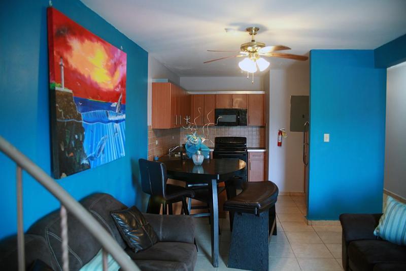 Living area - Sandy Beach Penthouse Condo! - Rincon - rentals
