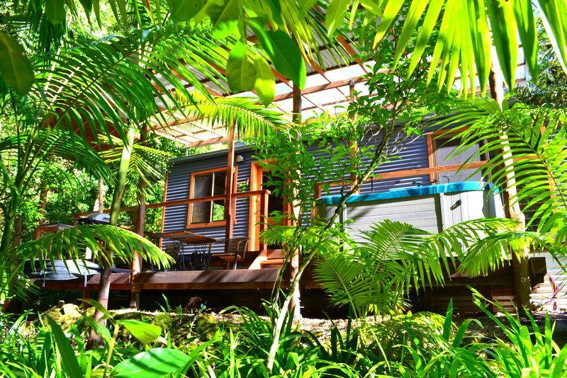 """""""the only thing missing is you..... - WATERFALL HIDEOUT - Rainforest Spa Cabin - New South Wales - rentals"""