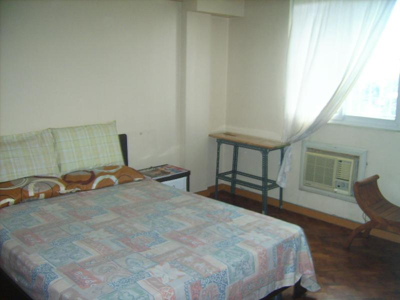 master's bedroom, airconditioned, queen bed, dresser, chair, provision for extra mattess if needed - 2 bedroom furnished unit, Pasig City, Philippines - Pasig - rentals
