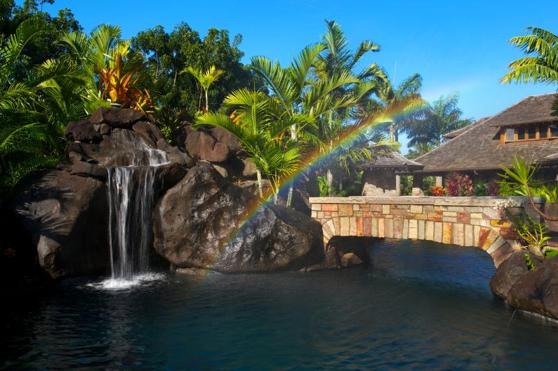 The Finest Pool On Kauai - Anini Vista Estate - 80 Foot Pool, Spa & Grotto, - Kilauea - rentals