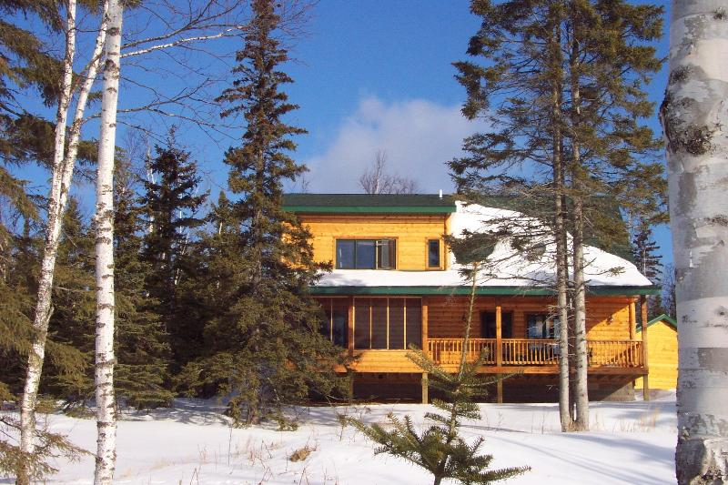 Set in the woods with a view of Lake Superior from the covered deck & every room that faces the lake - Lutsen's cutest rental - 1 mile from the ski hills - Lutsen - rentals