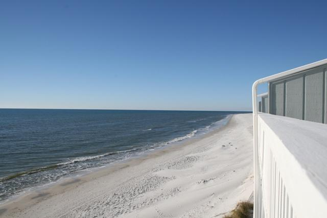 View from the master bedroom sundeck - Sunrise Sunset B4 -Gulf front  on the Cape - Cape San Blas - rentals
