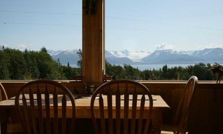 dining with a veiw - A Glacier Vista in Beautiful Homer Alaska - Homer - rentals