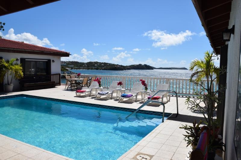 pool & ocean view - VILLA OCEAN'S EDGE - Romantic, Pool, Oceanfront - East End - rentals