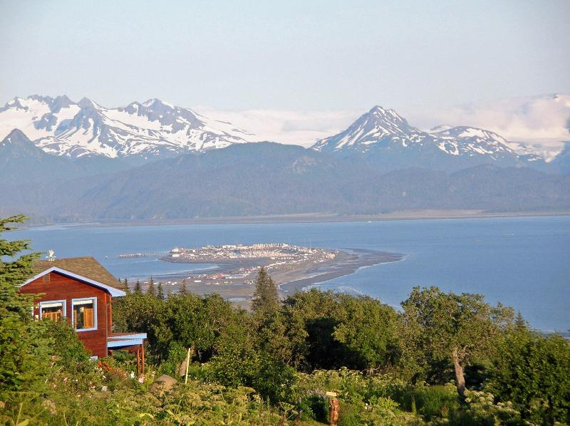 Best Views In Homer hands down. Taken from the entrence - A Memorable Experience  VIEW Vacation Rental House - Homer - rentals