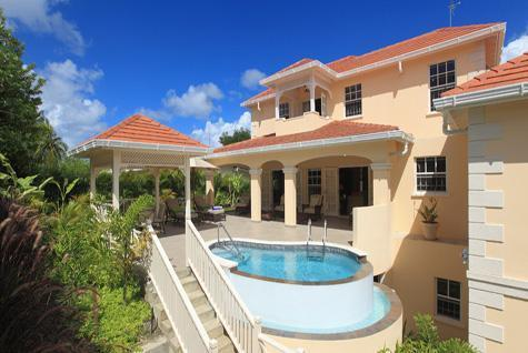 Tara from the back - Luxury 4 bdrm private home, pool/staff in Holetown - Holetown - rentals