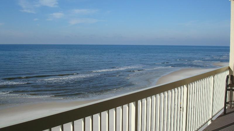Balcony View - Celadon 5th Floor Beachfront 2BR+Bunkrm, Free Wifi - Panama City Beach - rentals