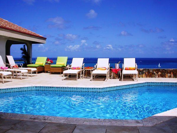 Pool Area - Incredible 270 degree vista over the Caribbean Sea - Virgin Gorda - rentals
