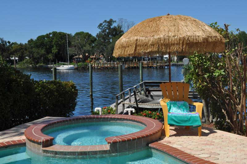 No Stay is complete without some relaxing time in the hot tub and a fruity drink - 5 Bedroom Luxury Waterfront Home in Tarpon Springs - Tarpon Springs - rentals