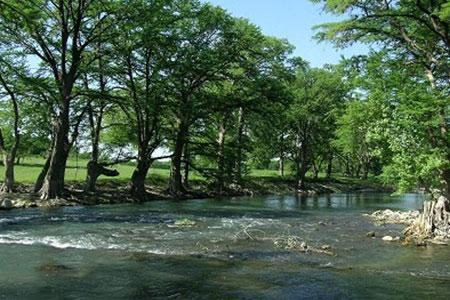 Sparkling clear rapids of the Guadalupe River - Gorgeous 2/2 Guadalupe River Resort Condo - New Braunfels - rentals