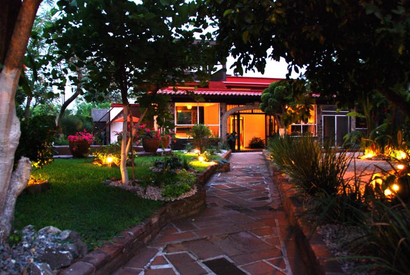 Entrance to the house...BIENVENIDOS! - Exquisite Home in Magical Garden - Cuernavaca - rentals