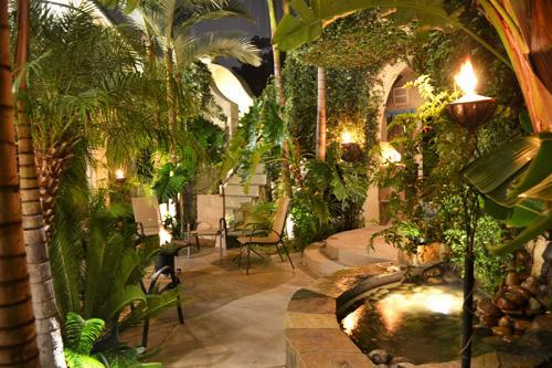 Backyard at night - Two homes in one w/ a backyard paradise! - Pacific Beach - rentals