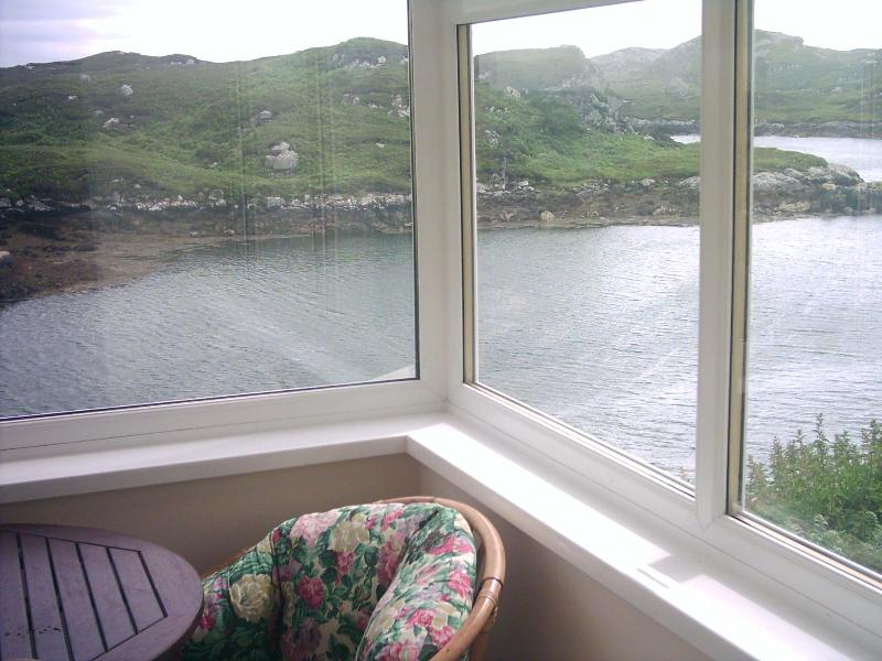 VIEW FROM FRONT POURCH - GROSEBAY COTTAGES - Isle of Scalpay - rentals