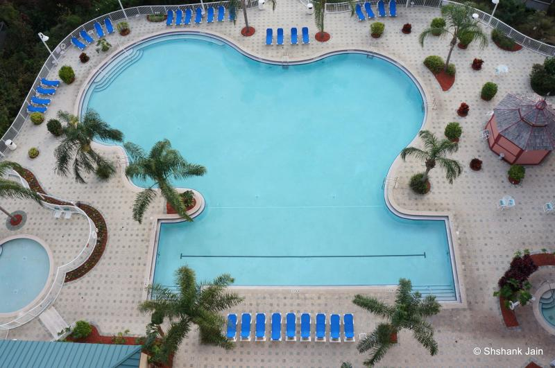 Mickey shaped Swimming pool view from private balcony; Can keep a watch on the kids from the balcony - Award Winning !! Affordable, Gorgeous Views,Disney - Orlando - rentals
