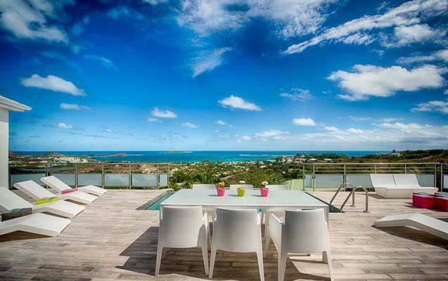 Villa Topaze, Jardin d'Orient, St Martin - TOPAZE...amazing views form this lovely 3 BR villa in Jardin D'Orient Bay, St Martin - Orient Bay - rentals