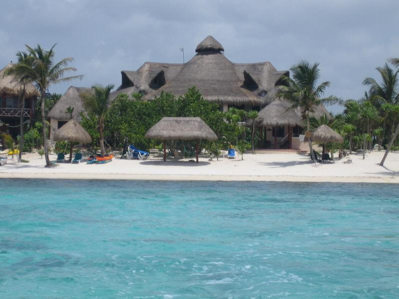 Nah Uxibal from the turquoise waters of Soliman Bay - The Beautiful Main House of Nah Uxibal - Soliman Bay - rentals